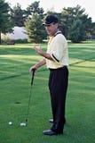 Socialización en campo de golf Foto de archivo
