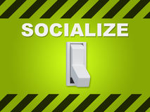 Socialize - personal concept Royalty Free Stock Photo