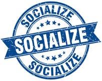Socialize round grunge  stamp Stock Image