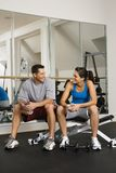 Socializing at gym Royalty Free Stock Photography