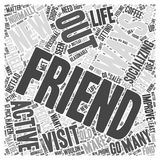 Socializing Will Help Improve your Personal Life word cloud concept word cloud concept vector background Stock Image