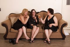 Socializing woman Stock Images