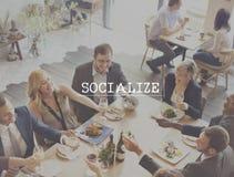 Socializzi il concetto del gruppo di unità della società della rete della Comunità fotografia stock