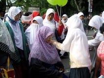 Socializzi il hijab immagini stock libere da diritti