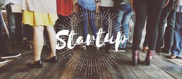 Socializzi la diaspora iniziano sull'inizio Team Building Concept fotografia stock libera da diritti