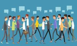 Socialt begrepp för affärskommunikation Royaltyfri Fotografi