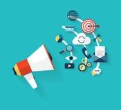 Socialt knyta kontakt för massmedia stock illustrationer