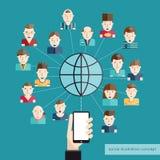 Socialt kommunikationsbegrepp Arkivfoton