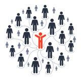 Socialt marknadsföra för massmedia Arkivbilder