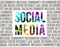 Socialt massmedia Arkivfoto