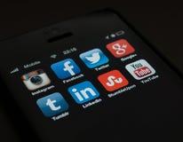 Socialt massmedia Fotografering för Bildbyråer