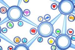 Socialt massmedia Arkivbild