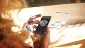 Socialt massmedia Hud Animation nätverkande stock video