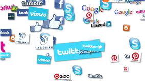 Socialt massmedia Logo Loop stock illustrationer