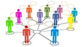 Socialt massmedia, nätverkskommunikationsbegrepp framförande 3d vektor illustrationer