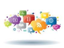 Socialt massmedia och internetaffär vektor illustrationer