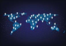 Socialt massmedia och nätverk på världen Arkivbilder