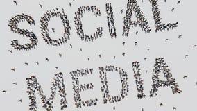 Socialt massmedia som göras av folk arkivfoton