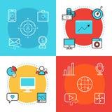 Socialt massmedia som marknadsför mallar för rengöringsdukbanerdesign SMM Arkivbild