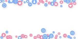 Socialt massmedia som marknadsf?r, kommunikation royaltyfri illustrationer