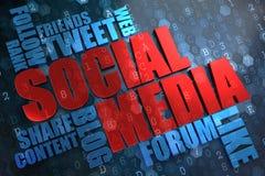 Socialt massmedia. Wordcloud begrepp. Royaltyfri Fotografi
