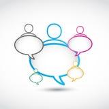 Socialt massmediagruppanförande bubblar Fotografering för Bildbyråer