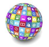 Socialt massmediajordklot för rengöringsduk och för internet vektor illustrationer