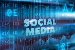 Socialt massmediateknologibegrepp Arkivbilder