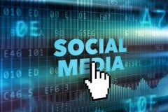 Socialt massmediateknologibegrepp Arkivfoton