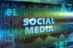 Socialt massmediateknologibegrepp Royaltyfria Foton