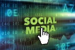 Socialt massmediateknologibegrepp Royaltyfria Bilder