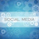Socialt medeldiagram Arkivfoto