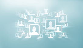 Socialt nätverk Arkivbild
