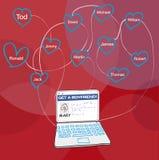 Socialt nätverk royaltyfri illustrationer