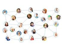 Socialt nätverk royaltyfria bilder