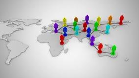 Socialt nätverk vektor illustrationer