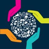 Socialt nätverk Arkivfoto
