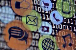 Socialt nätverk för dator Royaltyfri Fotografi