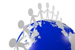 Socialt nätverk, internet som är global, jord, folk royaltyfri illustrationer