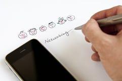 Socialt nätverkandebegrepp arkivfoton