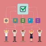 Socialt nätverks- och teamworkbaner Arkivfoto