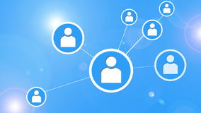 Socialt nätverksbegrepp.