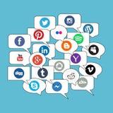 Socialt nätverkskommunikationsbegrepp Royaltyfri Fotografi