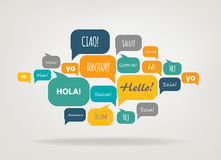 Socialt nätverksvektorbegrepp royaltyfri illustrationer