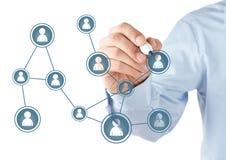 Socialt nätverk Arkivfoton