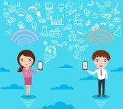 Socialt nätverk för folk Arkivbild