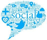 socialt samtal för bubbla Arkivfoto