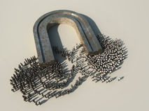 Sociedad de la separación magnética stock de ilustración