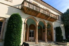 Sociedad de los cuatro artes, Palm Beach, la Florida Imagenes de archivo