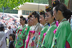 Sociedad para la educación coreana + Hata de la danza Imagenes de archivo